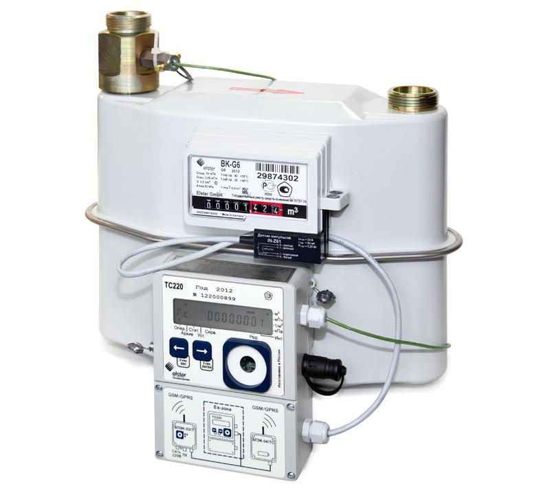 Измерительный комплекс (узел учета) газа СГ-ТК-Д-16 (BK G10 + TC215) Ду32