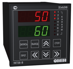 УКТ38-В измеритель температуры 8-канальный с аварийной сигнализацией и встроенным барьером искрозащиты
