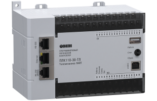 Контроллер для диспетчеризации и телемеханики ОВЕН ПЛК110-30-ТЛ [М02]
